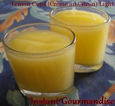 Lemon Curd (Crème au Citron) Light (Sans Beurre)
