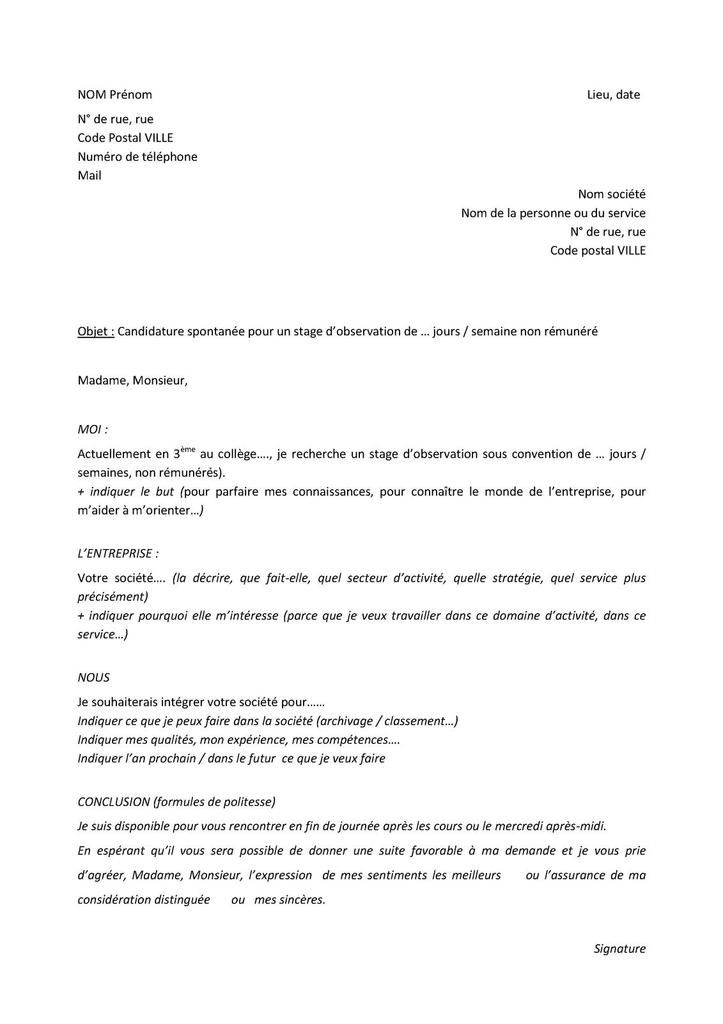 exemple de lettre de motivation qui passe partout