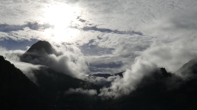 Geiranger in the clouds