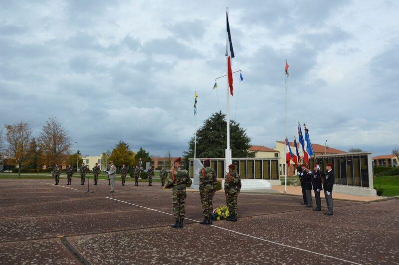 COMMEMORATION DU 40 eme ANNIVERSAIRE DE LA MORT DU GENERAL MAYER, A PAMIER, AVEC LE 1° RCP.