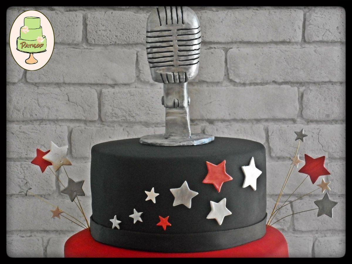 Gâteau The Voice pour fêter la victoire de Lilian Renaud (120 parts, entièrement comestible, yc le micro !)