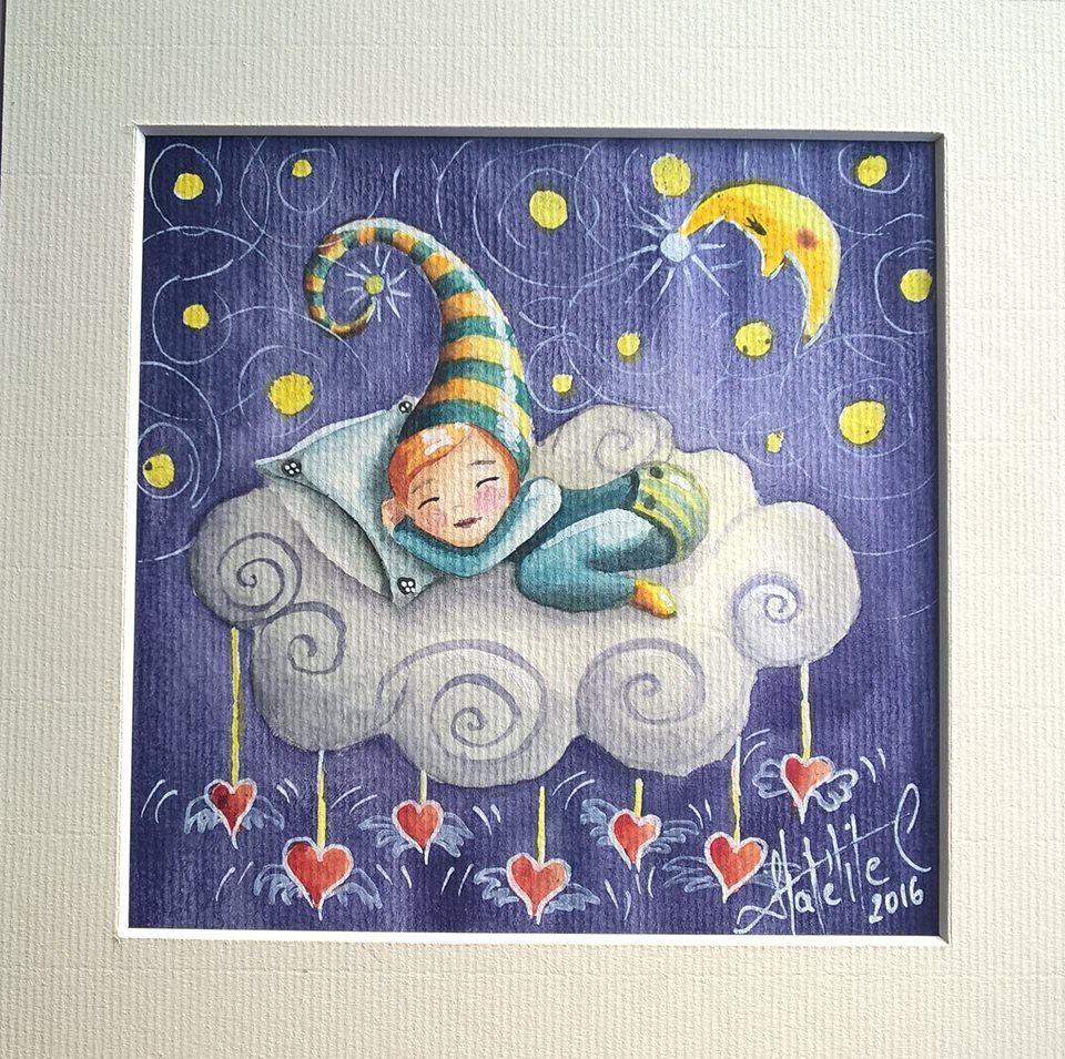 Petite série d'aquarelles enfantines - Illustrations jeunesse