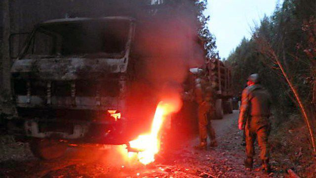 Mapuche Territorial Resistance Group of the CAM claim responsibility for Sabotage