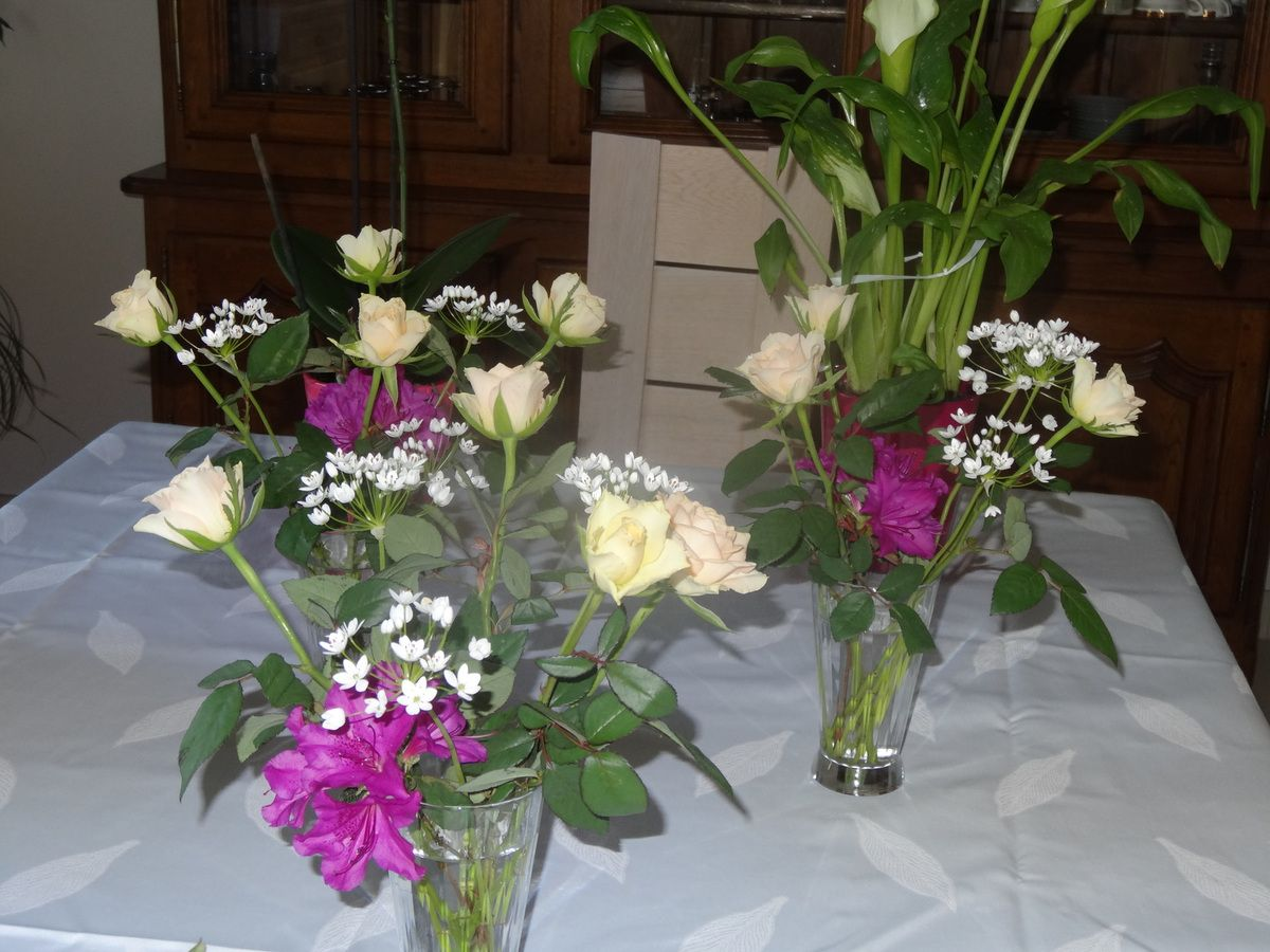 Les bouquets de ma table
