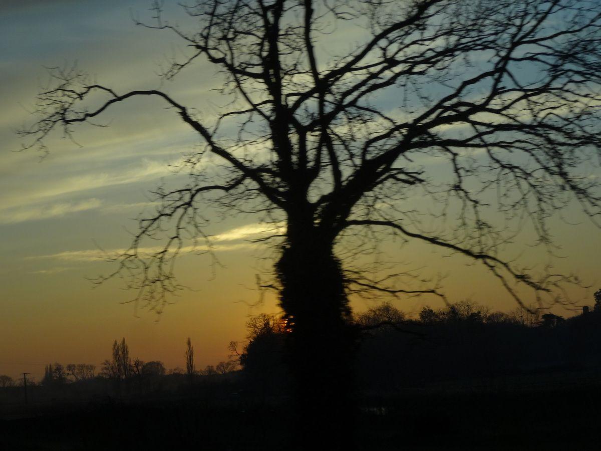 Le coucher de soleil a dû être magnifique ! Dommage on doit rentrer !