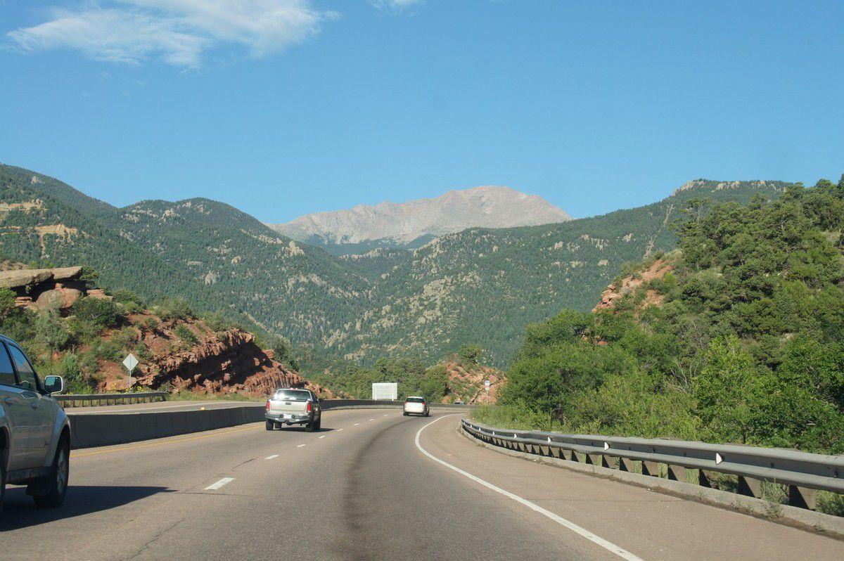 En route vers le Pikes Peak