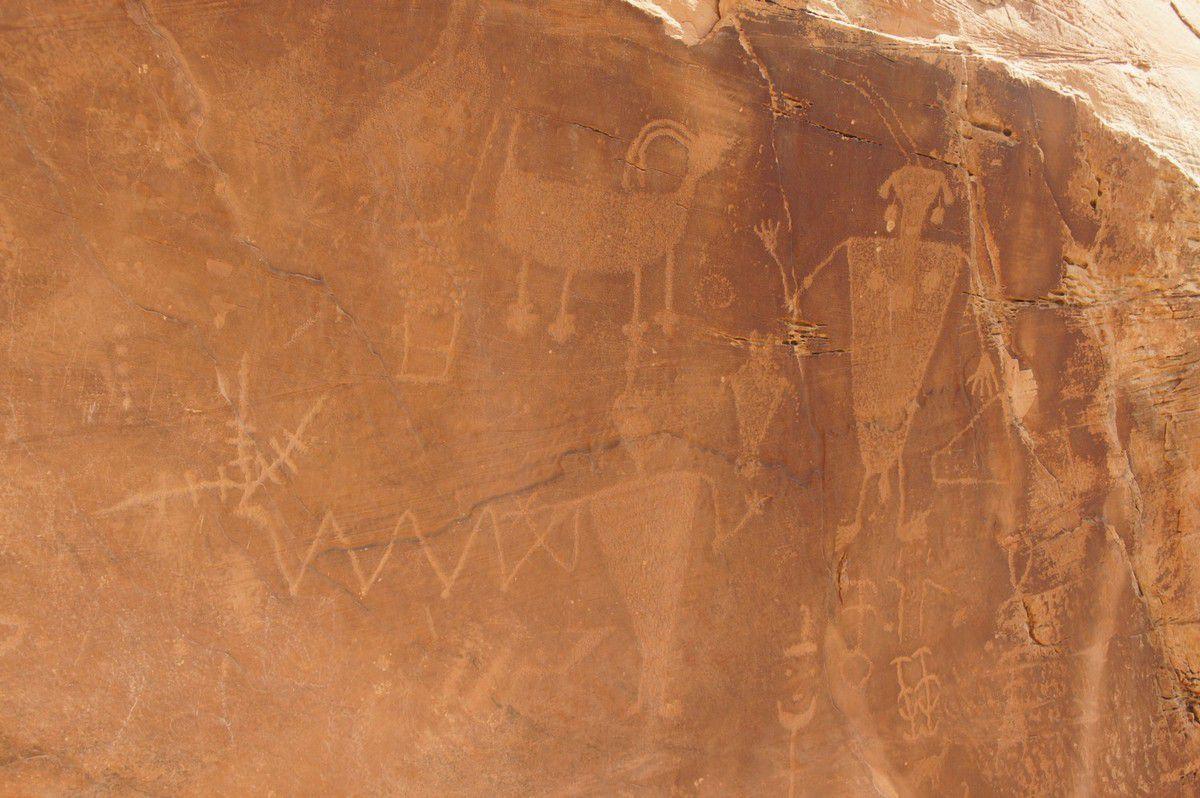 Pétroglyphes des Indiens Fremont