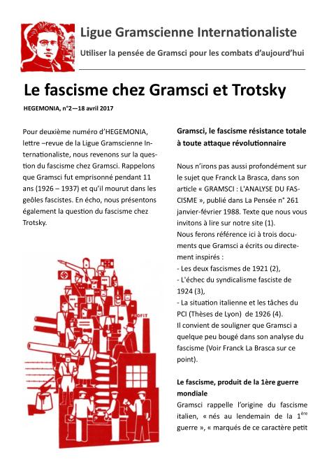 le fascisme chez Gramsci et Trostky, Hegemonia n°2