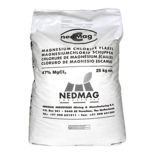 Et un sac de 25 kg de chlorure de magnésium (privilégier la version alimentaire)