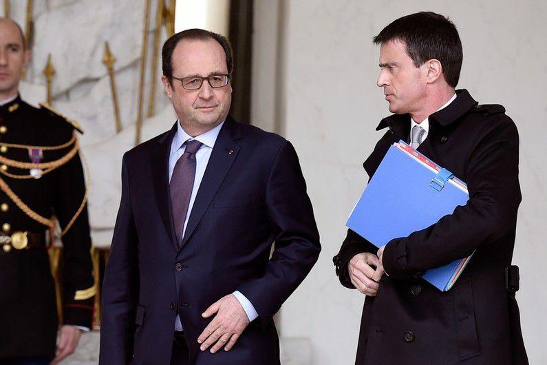 François Hollande et Manuel Valls le 1er avril 2015.