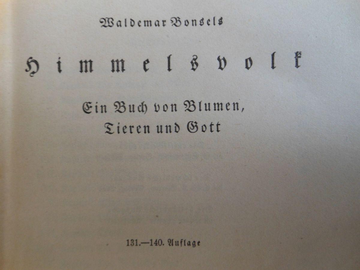Waldemar Bonsels, Himmelsvolk, 1915