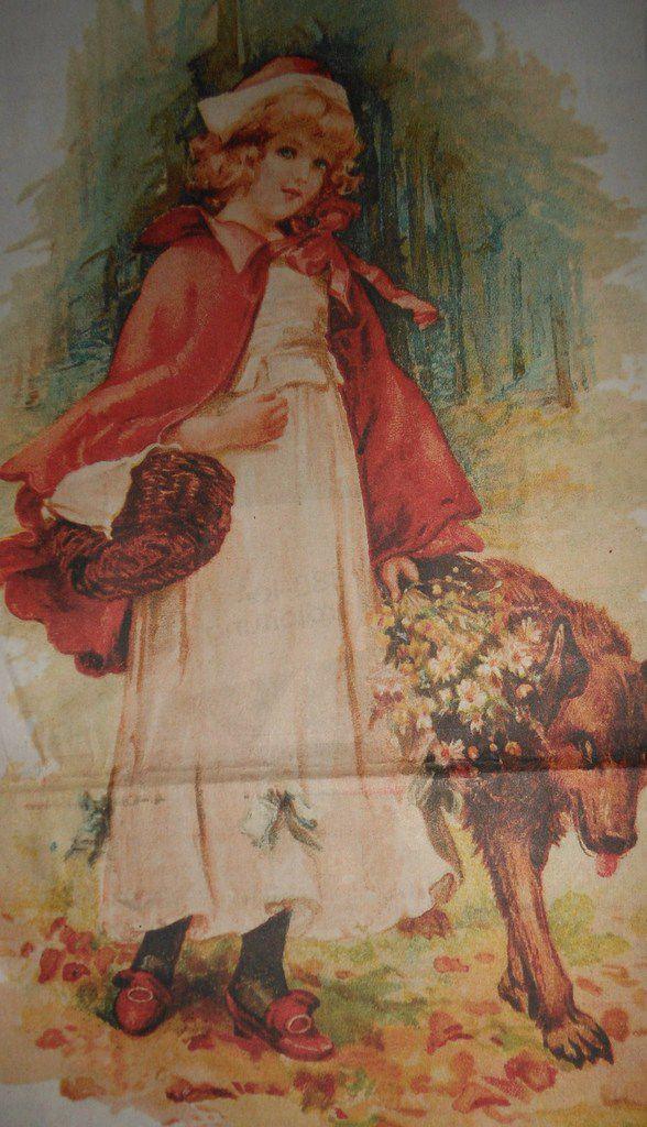 Rotkäppchen Weihnachtskarte 1902