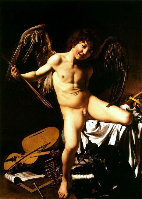 Amor als Sieger  -  Michelangelo Merisi da Caravaggio