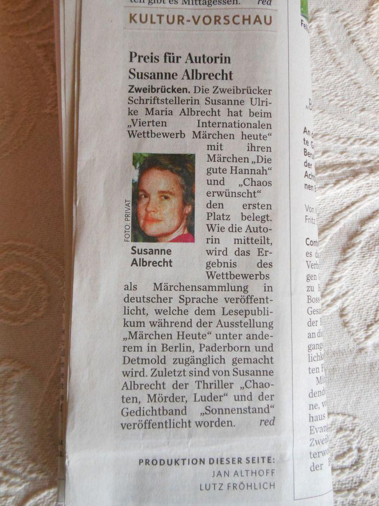 1. Platz / Siegerin: Susanne Ulrike Maria Albrecht