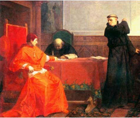 Martin Luther  -  Gemälde von Ferdinand Pauwels