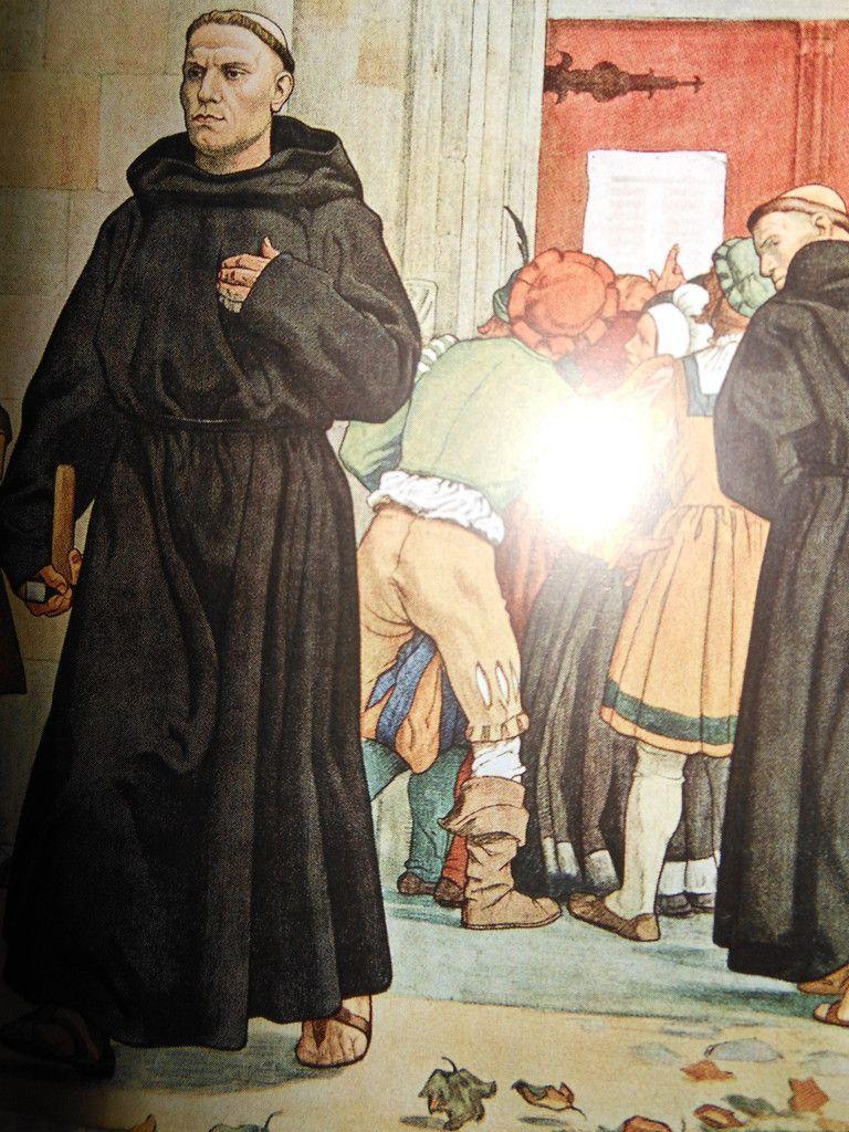 Martin Luthers Thesenanschlag von Arthur Kampf im Zentralarchiv der Evangelischen Kirche der Pfalz