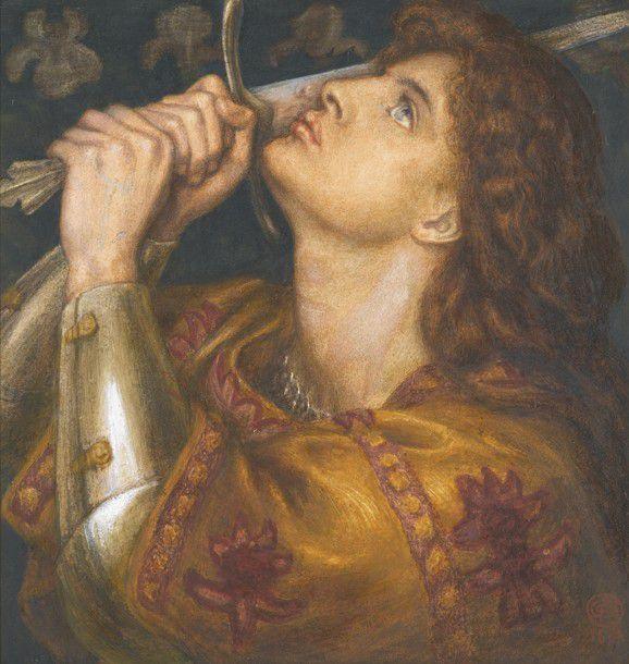 Johanna von Orleans  -  Bildnis von Dante Gabriel Rossetti