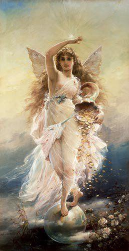 Fortuna, die Glücks-und Schicksalsgöttin  -  Bildnis von Jean Francois Armand Felix Bernard