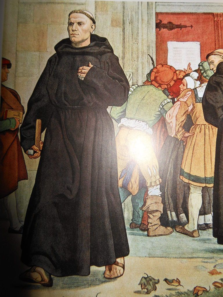 Martin Luthers Thesenanschlag 1517  -  Bildnis von Arthur Kampf