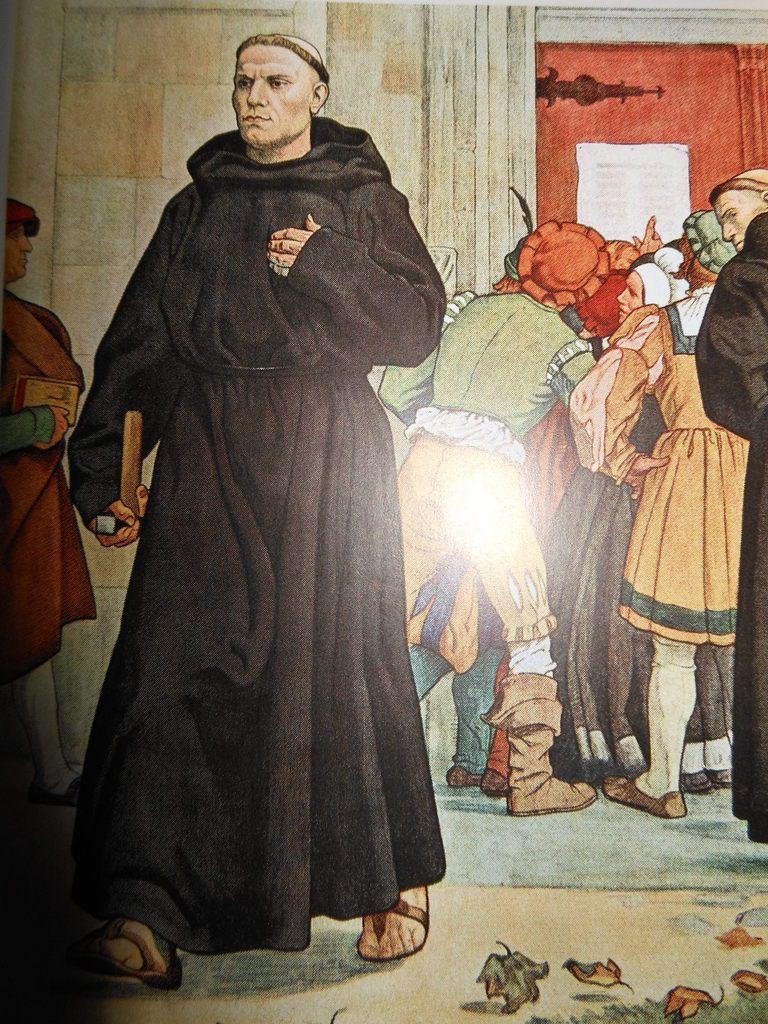 Martin Luthers Thesenanschlag 1517 - Gemälde von Arthur Kampf