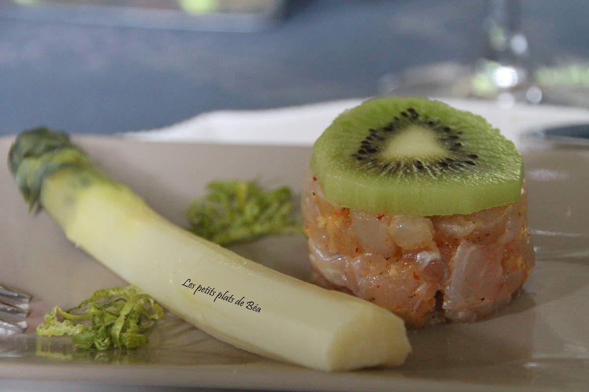 Tartare d'églefin au gingembre et au kiwi