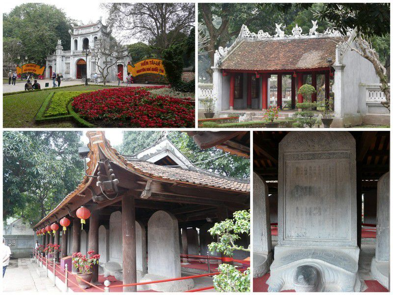 Le temple de la littérature construit en 1070, dédié à Confusius.