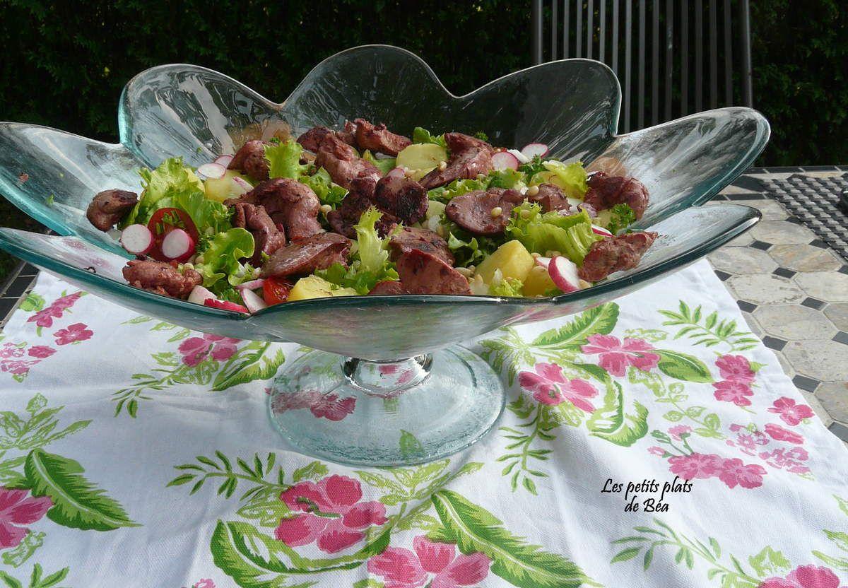 Salade de foies de volaille confits