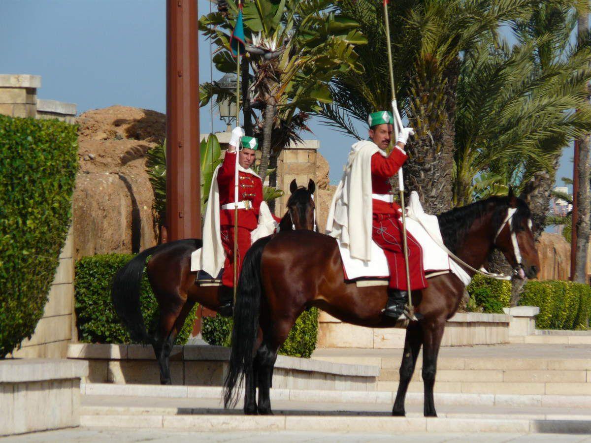 Les gardes du palais royal