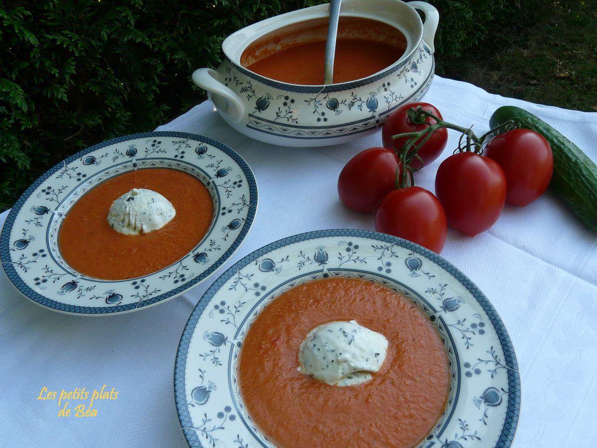 Gaspacho, glace au basilic - Andalousie (1) Cadix