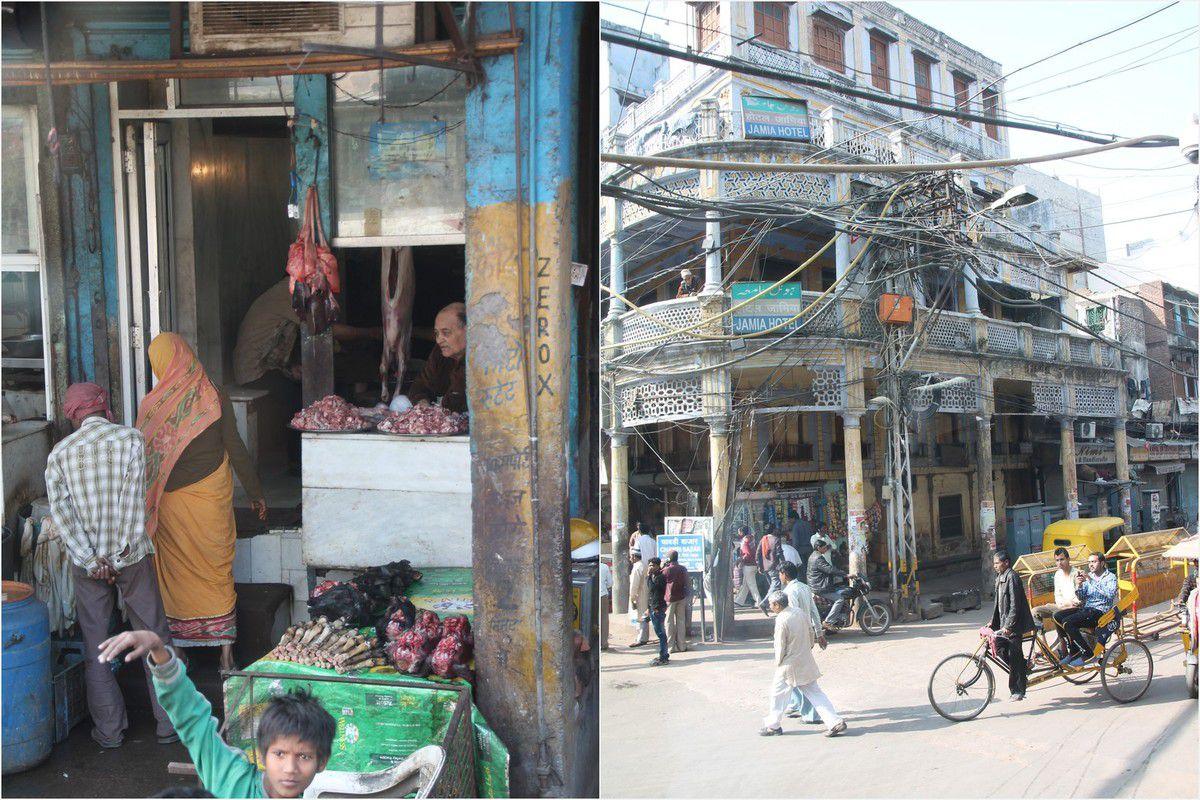 Autre quartier de Delhi, le quartier musulman, un autre monde