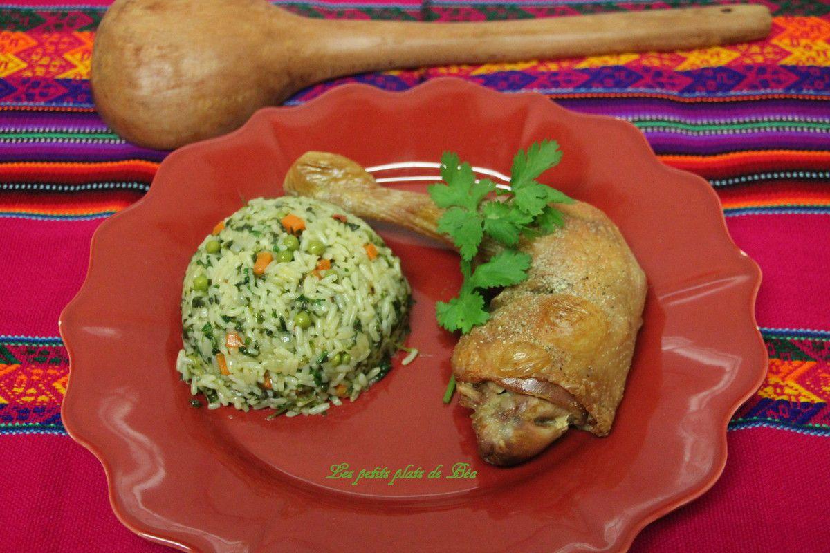 Riz à la coriandre recette péruvienne - Pérou (1) Lima