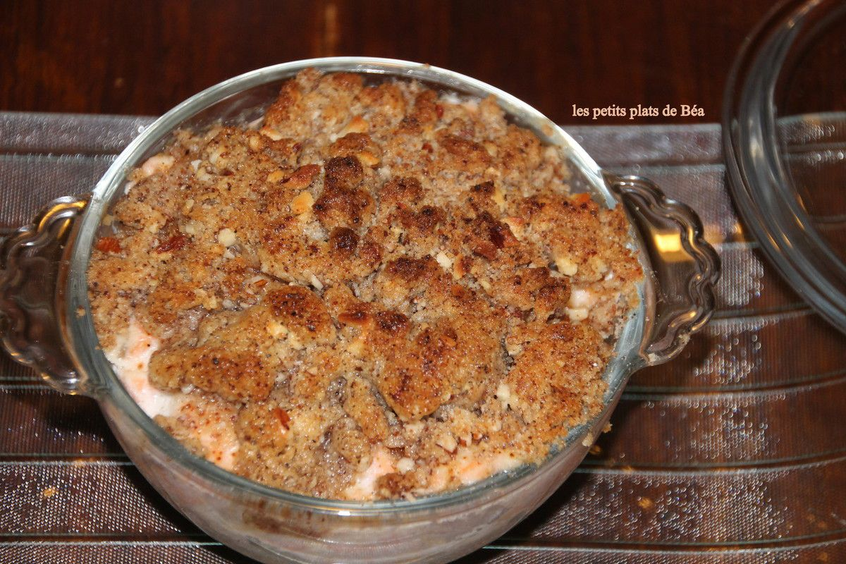 Crumble topinambour et saumon