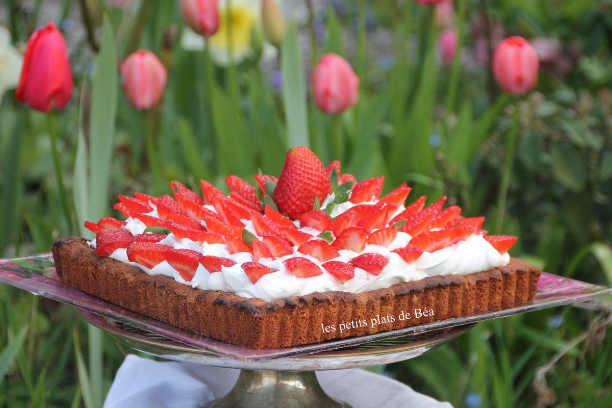 Biscuit breton chantilly et fraises