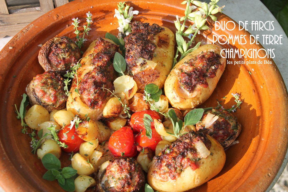Duo de farcis pommes de terre et champignons