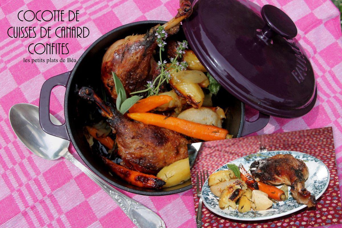 Cocotte de cuisses de canard confites les petits plats - Comment cuisiner les cuisses de canard ...