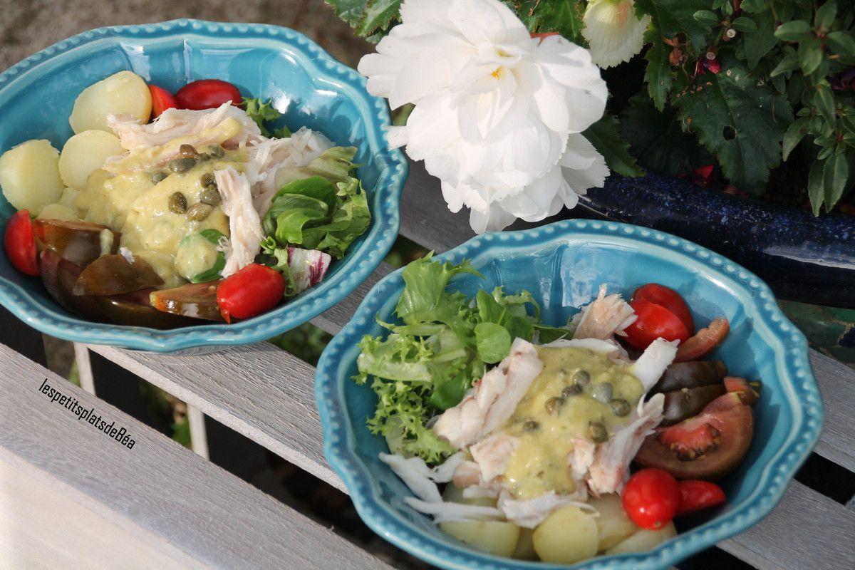 Salade d'effilochée de raie