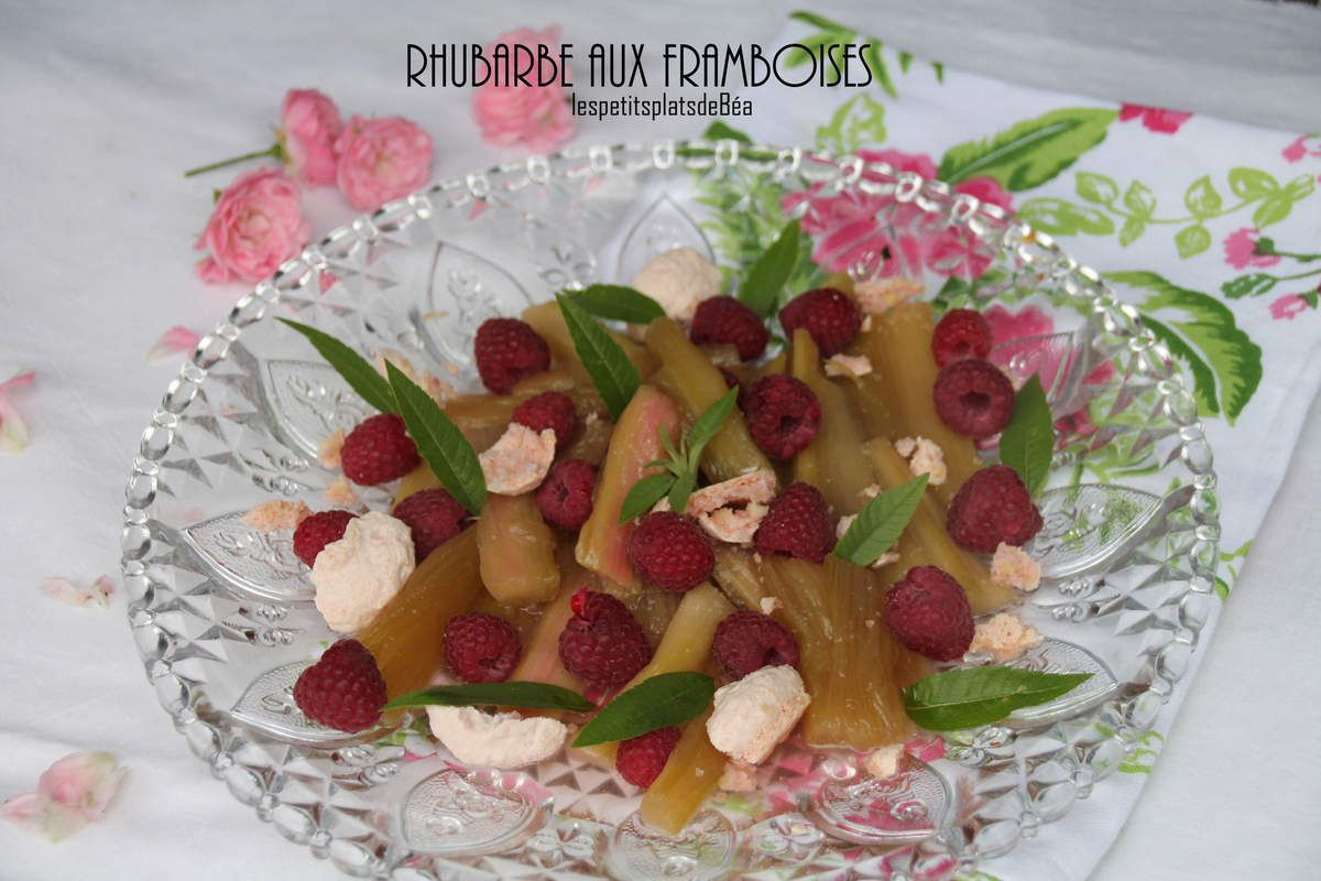 Rhubarbe aux framboises