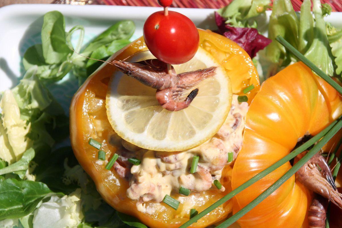 Tomates crevettes comme sur la côte belge