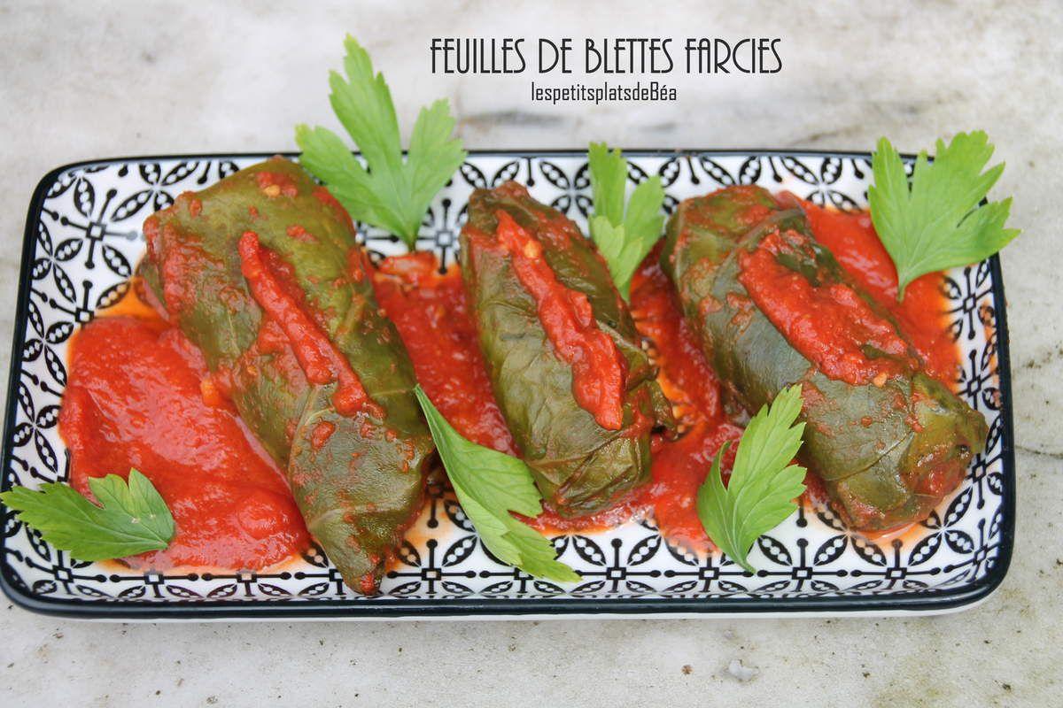 Feuilles de blettes farcies les petits plats de b a - Comment cuisiner des feuilles de blettes ...