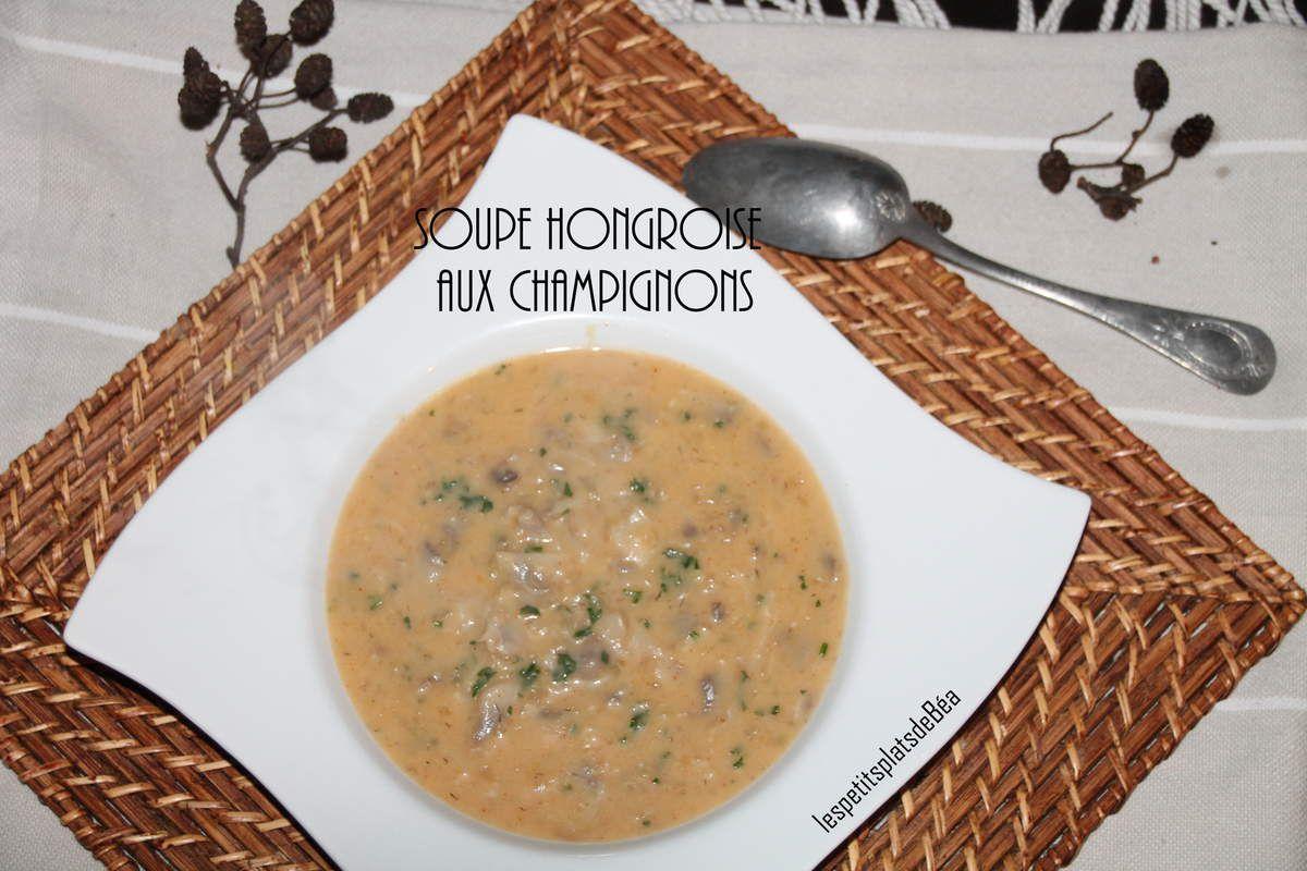 Soupe à la hongroise aux champignons