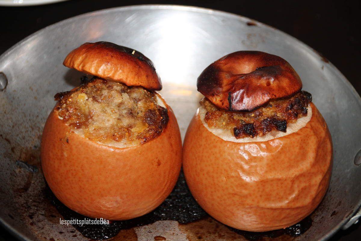 Nashis au four farcis à l'amande et aux fruits moelleux
