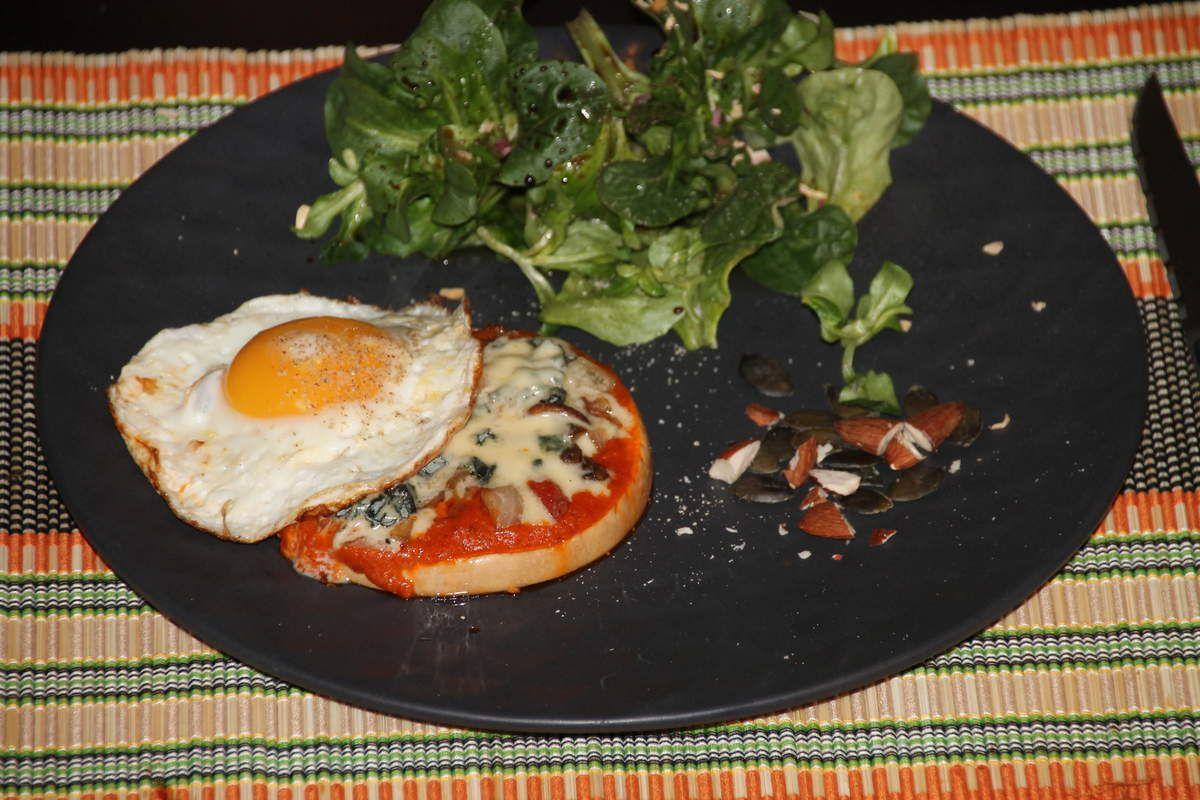 Courge butternut façon pizza au fromage bleu