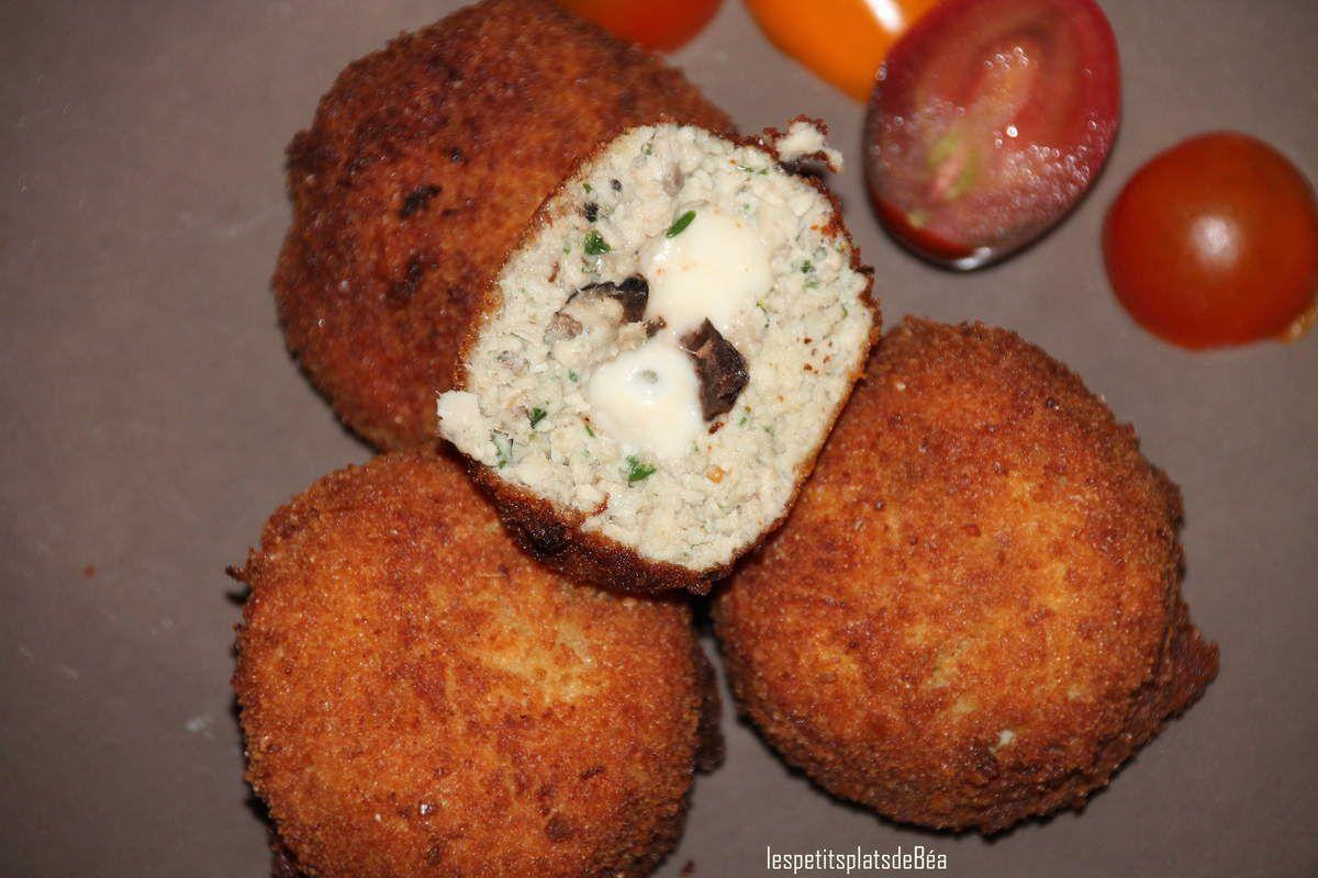 Croquettes de poulet coeur olives mozzarella