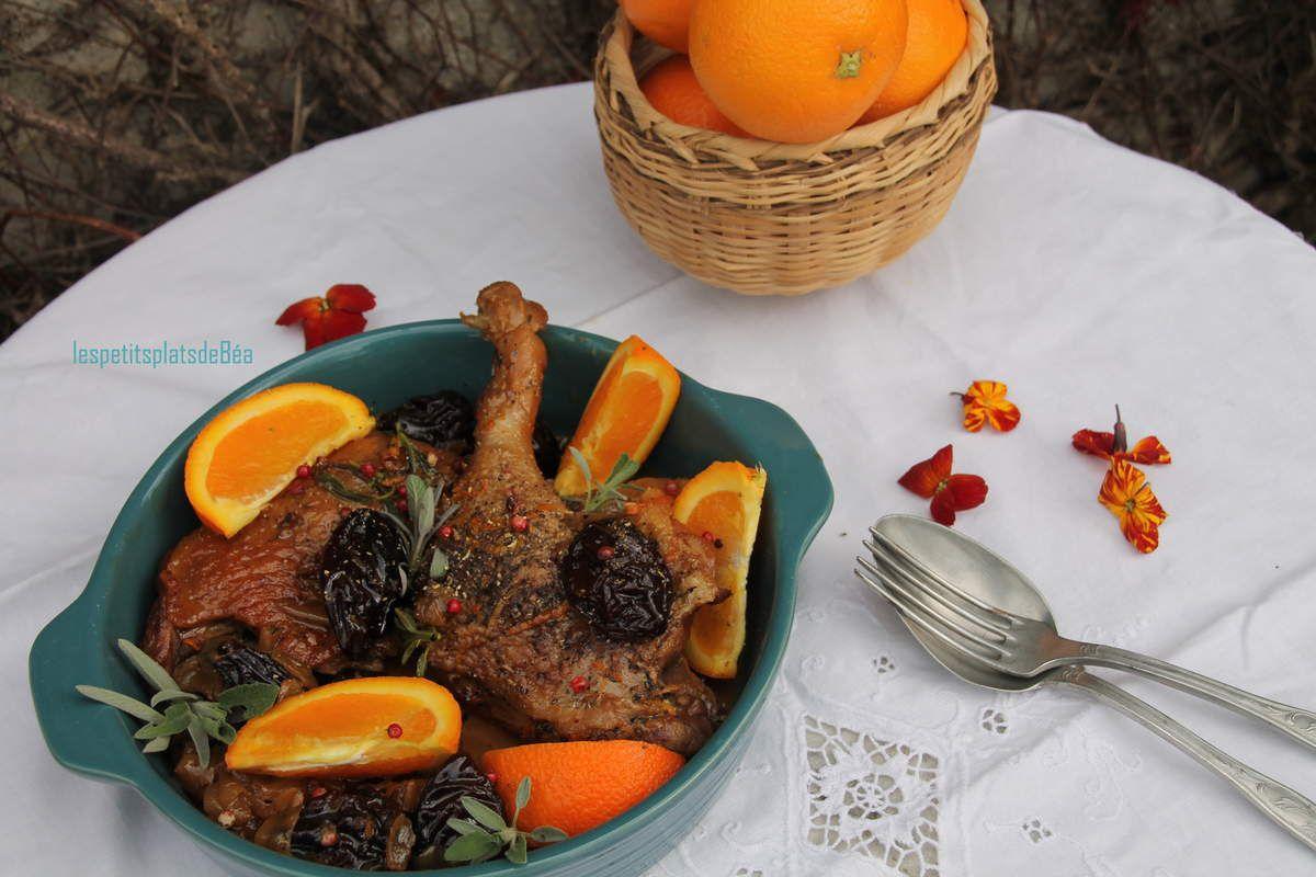 Canard à l'orange et aux pruneaux