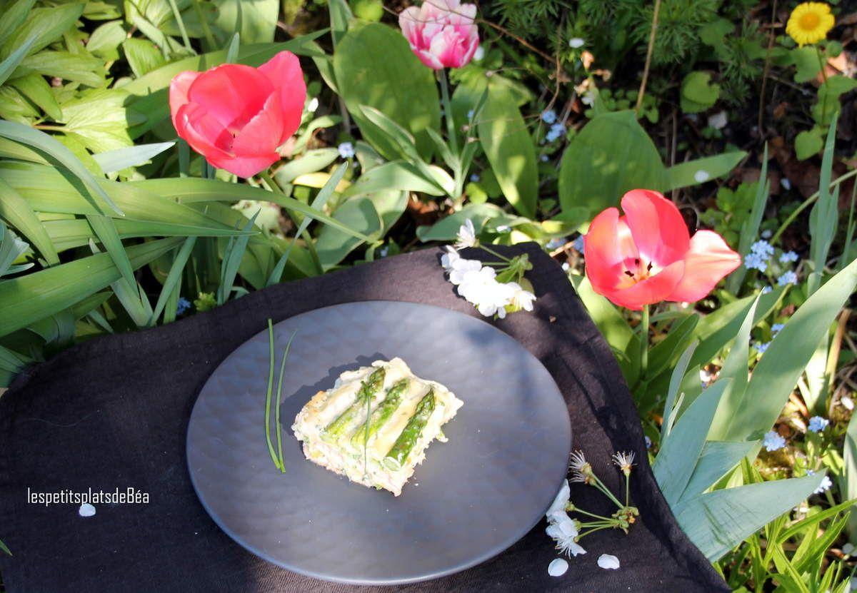 Lasagnes au saumon et asperges vertes