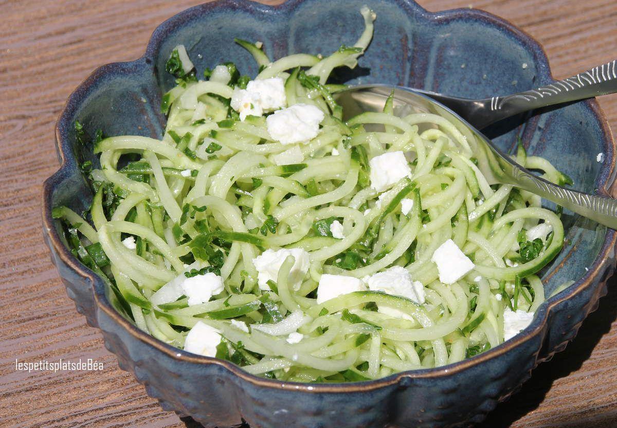 Spaghetti de concombre à la féta