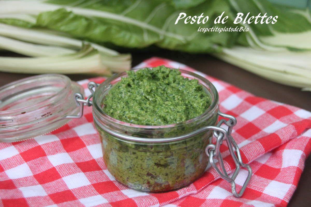 Pesto de feuilles de blettes les petits plats de b a - Comment cuisiner des feuilles de blettes ...