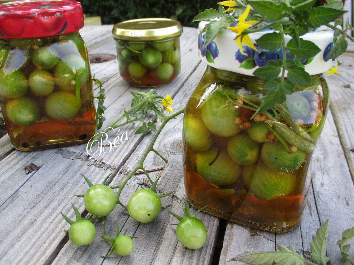 Pickles de tomates vertes