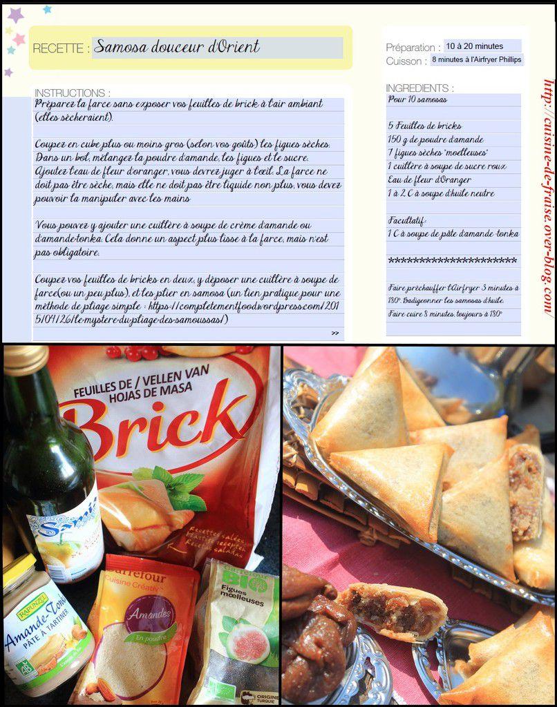 Airfryer Avance Phillips et Samosa amande/figue/fleur d'oranger
