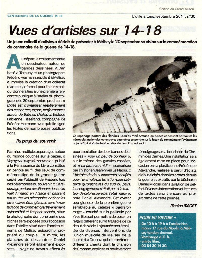 Vues d'artistes sur 14-18 à Melisey - Haute-Saône